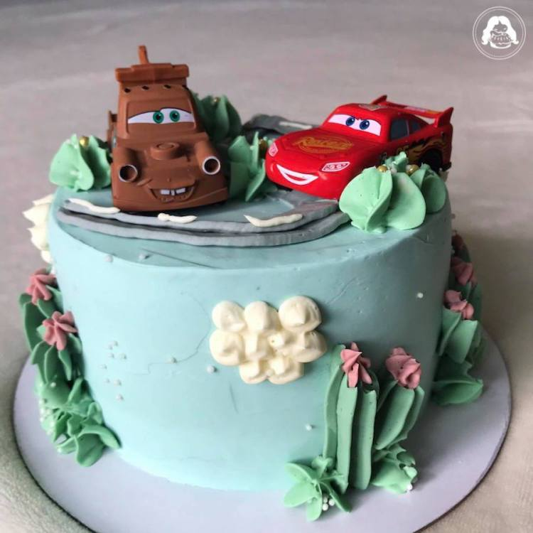 Cars Themed Cake JESBAKES (toy car provided)