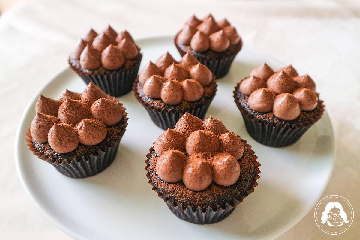 Chocolate Cupcake Milk Choco Mousse Frosting JESBAKES