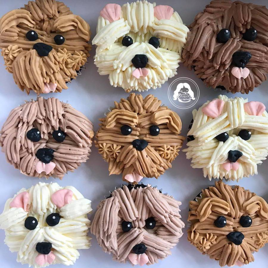Cute Fluffly Dog Cake JESBAKES