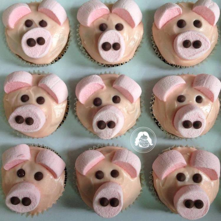 Cute Pig Themed Cupcakes JESBAKES