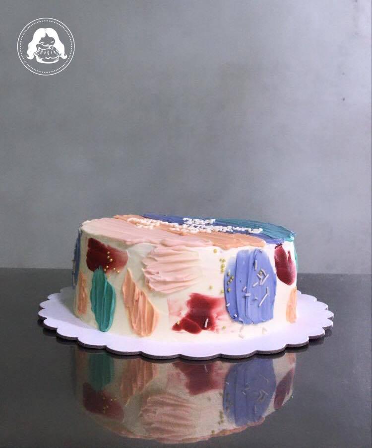 Korean Not So Minimalist Cake JESBAKES