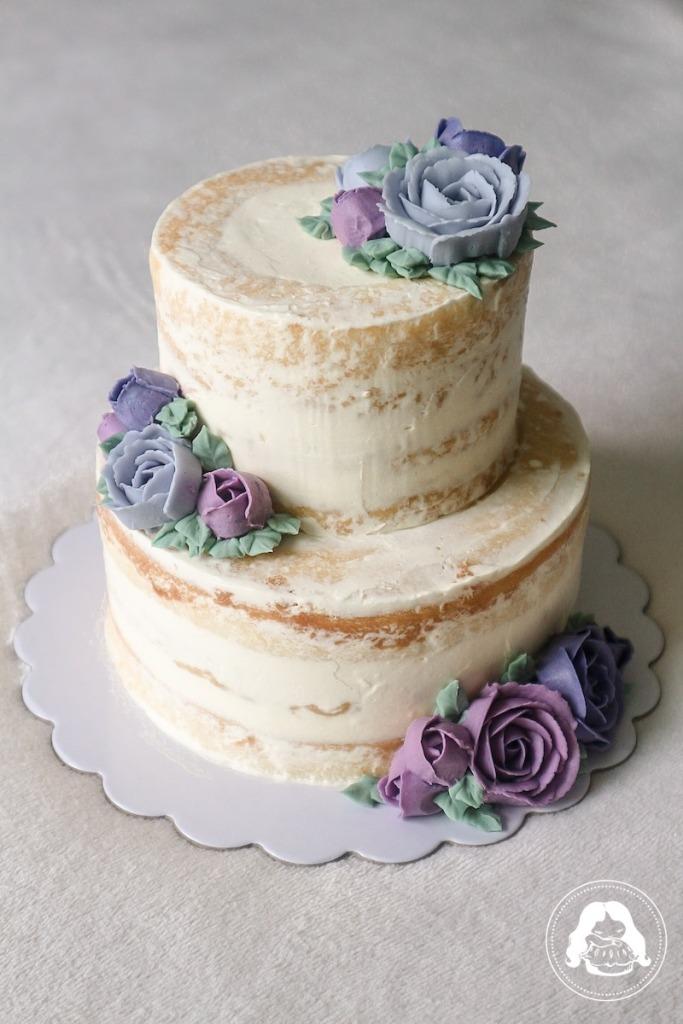Naked Minimalist Floral Wedding Cake JESBAKES