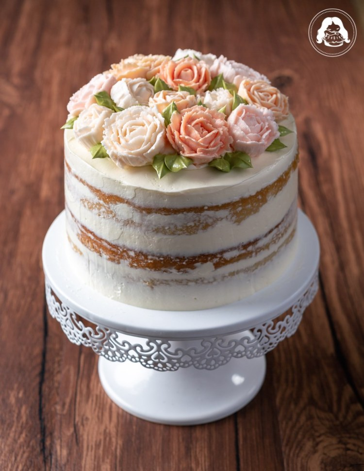 Naked Vanilla Bouquet Wedding Cake JESBAKES