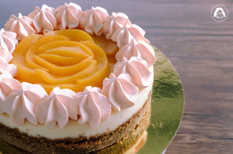 Peaches Cream Cheesecake JESBAKES