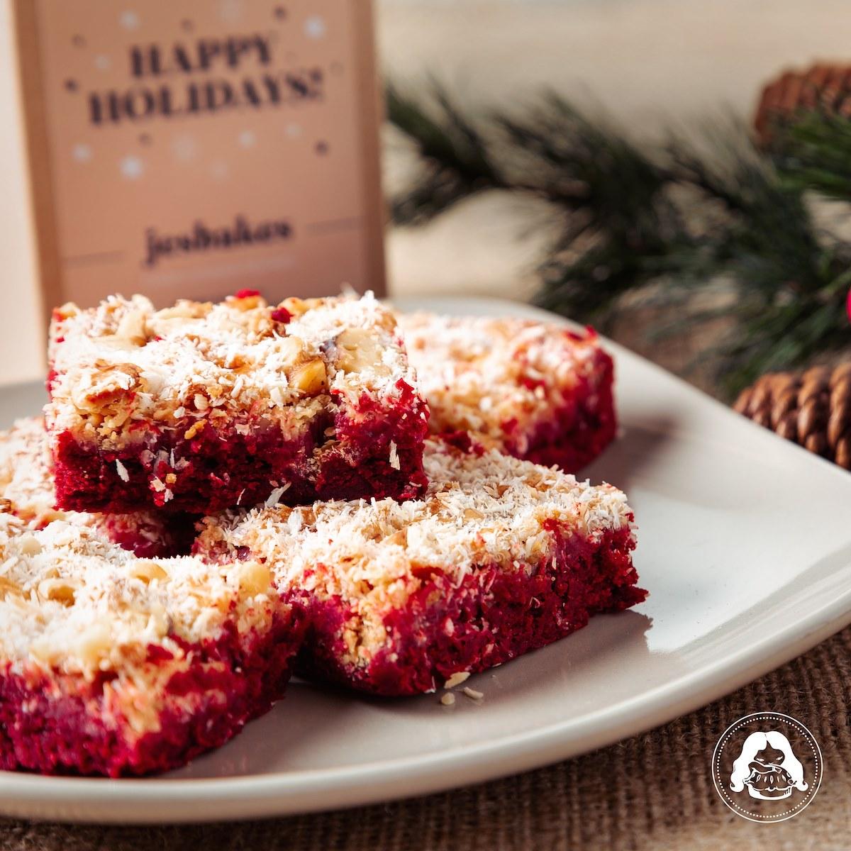 Red Velvet Macaroon Cookies JESBAKES