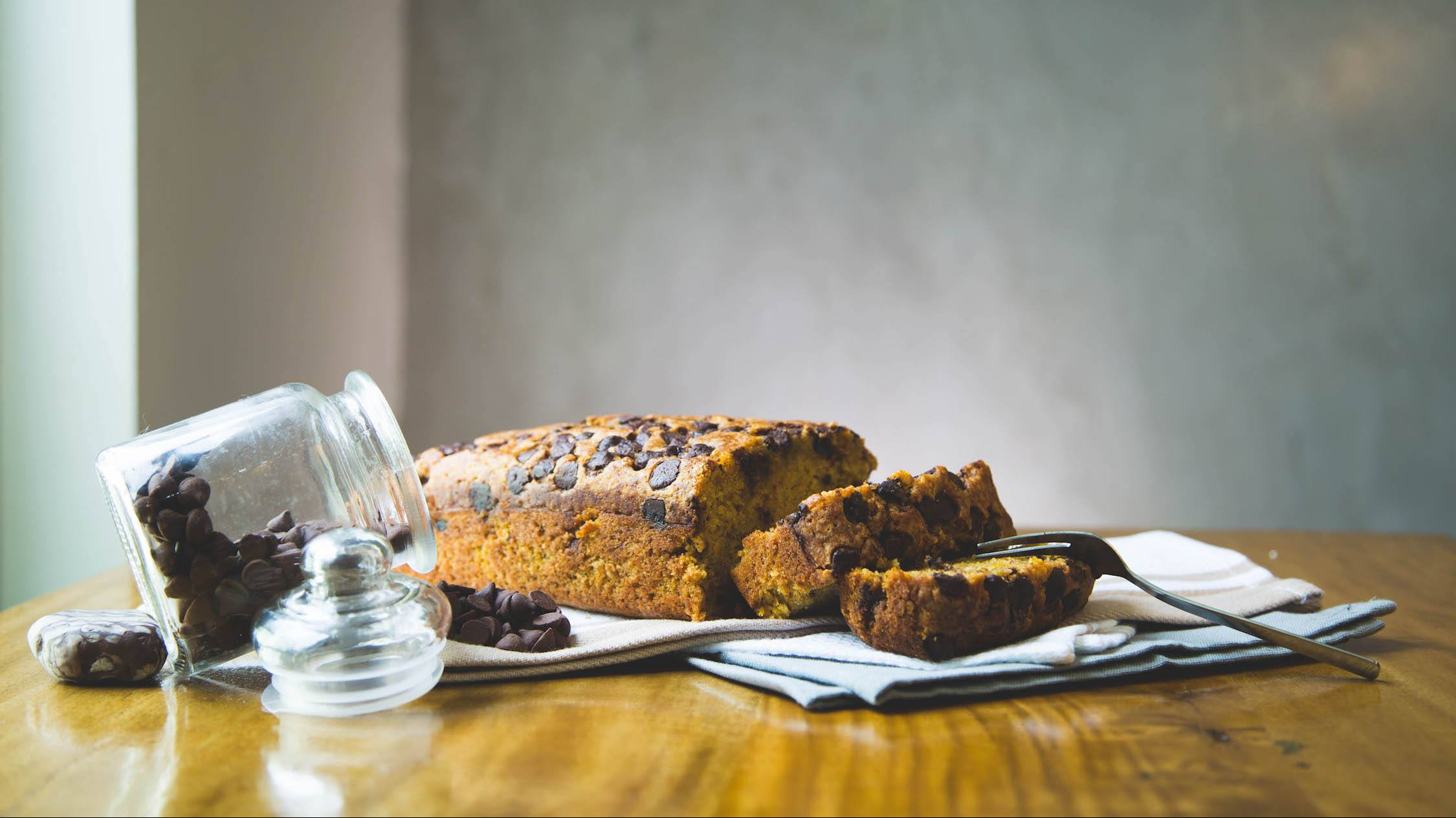 Spiced Pumpkin Choco Chip Loaf JESBAKES cover