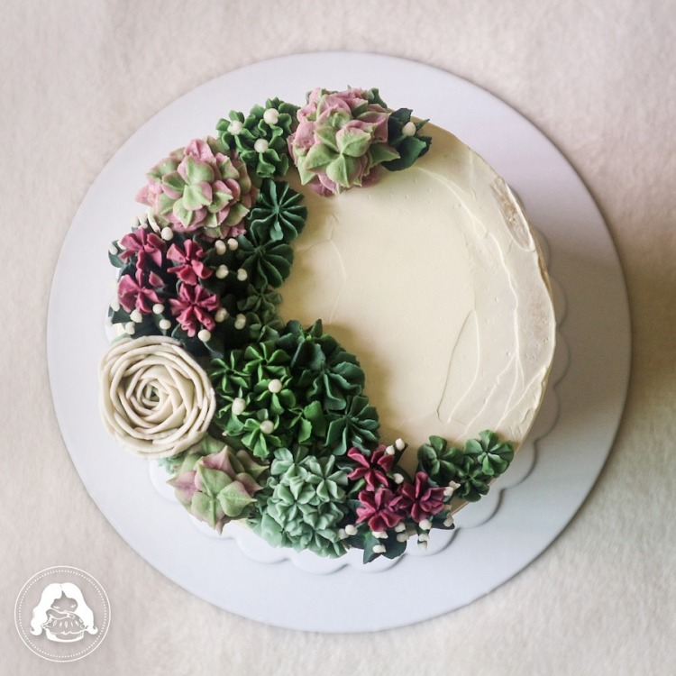 Succulent Themed Cake JESBAKES