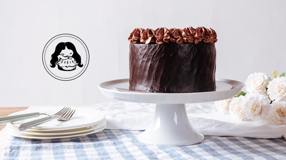 Truffle Ganache Cake Milk Chocolate Mousse Frosting JESBAKES thumbnail