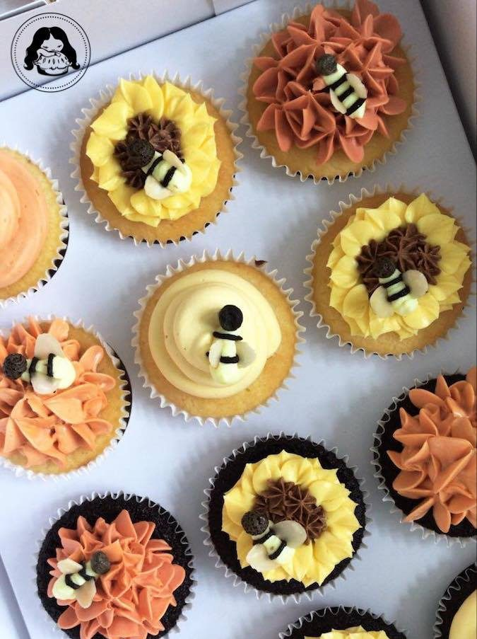 Flower Beez Themed Cupcakes JESBAKES